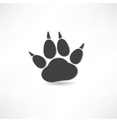 animal tracks icon vector image vector image