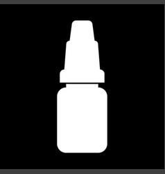 Eye drops white color icon vector
