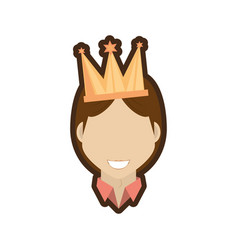 Face man smile with crown vector