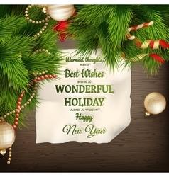 Holidays greeting and christmas card eps 10 vector