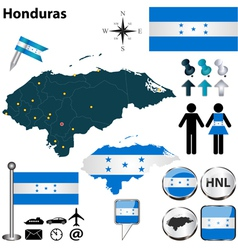Honduras map vector