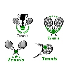 Tennis sport emblems vector image vector image