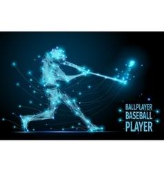 baseball ballplayer polygonal vector image vector image