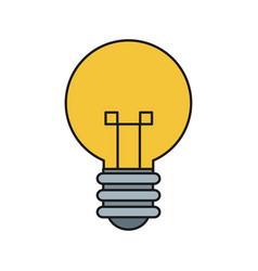 bulb light idea mind creativity icon vector image