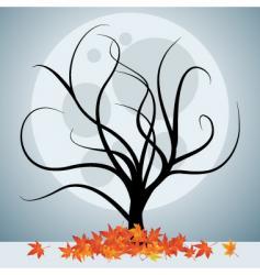 haunted tree vector image vector image