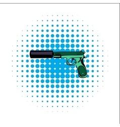 Pistol comics icon vector image