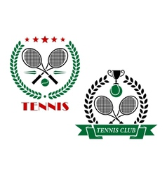 Tennis game icons and emblems vector image vector image