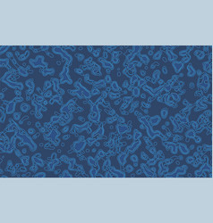 Abstract blue background with lines and contours vector