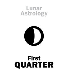 astrology first quarter of moon vector image