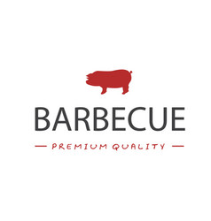 bbq barbecue premaium quality image vector image