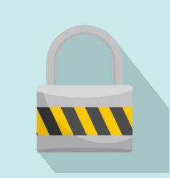 big lock icon flat style vector image