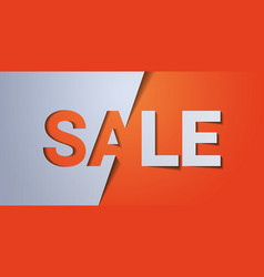 big sale 3d template special offer shopping vector image