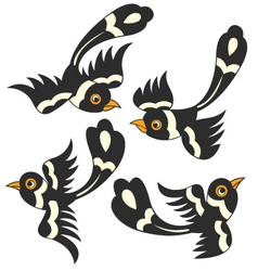 bird cartoon design vector image