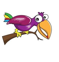 Bird cartoon vector image