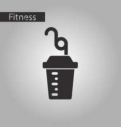 Black and white style icon fitness cocktail vector