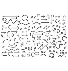 Black arrows set large collection of simple icons vector