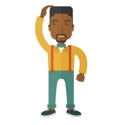 Black guy confused vector image