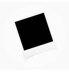 Blank photo polaroid frame isolated on white vector