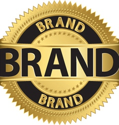 Brand gold label vector image vector image