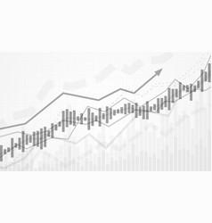 business data analytics financial graph chart vector image