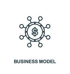 business model outline icon thin line concept vector image
