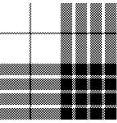 cameron black white tartan pixel seamless pattern vector image