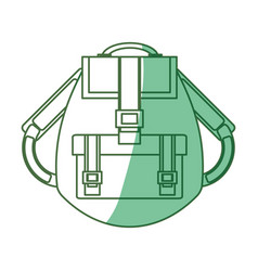 camping backpack isolated vector image
