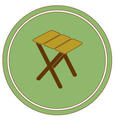 camping stool icon vector image
