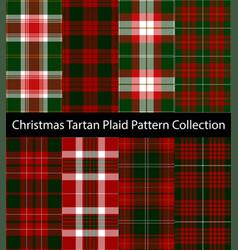 christmas tartan plaid pattern collection vector image
