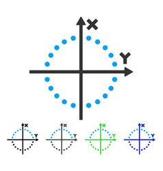 Circle plot flat icon vector