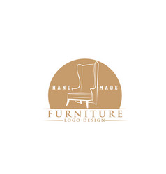 classic chair household furniture logo vector image