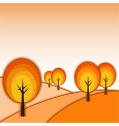 Colorful Autumn Tree Landscape vector image