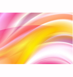 colorful smooth blurred waves background vector image