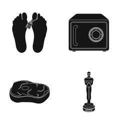 Corpse safe and other web icon in black style vector