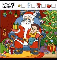 counting game for children santa claus vector image