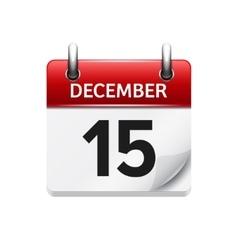 December 15 flat daily calendar icon vector