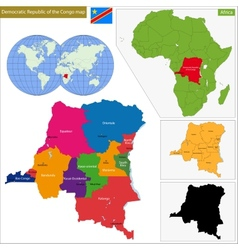 Democratic Republic of the Congo vector image
