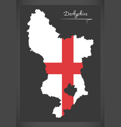 derbyshire map england uk with english national vector image
