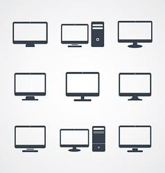 Desktop computer screen vector