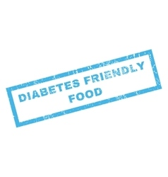 Diabetes Friendly Food Rubber Stamp vector