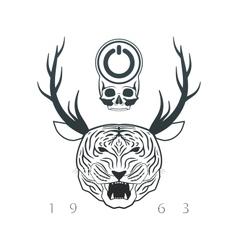 emblem of designer vector image
