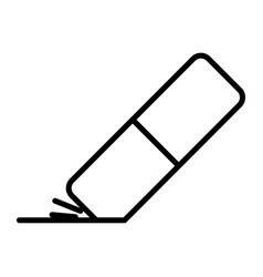 eraser icon eraser icon in trendy flat style vector image