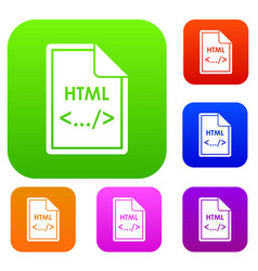 File html set collection vector