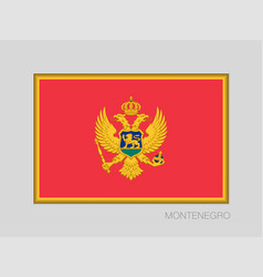 Flag of montenegro national ensign aspect ratio 2 vector