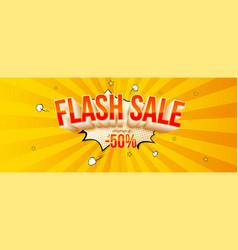 flash sale fifty percent discount volumetric vector image