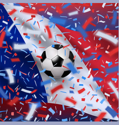 football world championship background vector image