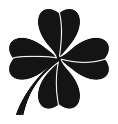 Four leaf clover icon simple style vector