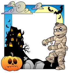 Frame with halloween topic 3 vector