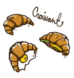 french croissants vector image