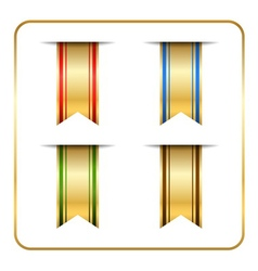 Gold colored bookmark vector